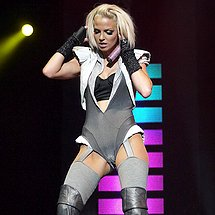 Stage costume cameltoe of Girls Aloud